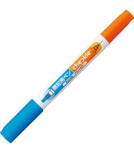 Pen for memorization Kokuyo (Bright color - Blue/Orange) - Does not Include semitransparent red plastic sheet