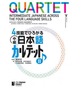 Quartet - Intermediate Japanese Across the Four Language Skills II (Incl. audio download)