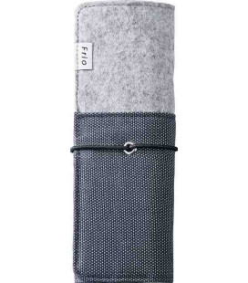 Japanese Stand-Roll Pen Case - Frio Model 8401 (Blue) - Blue and Grey color