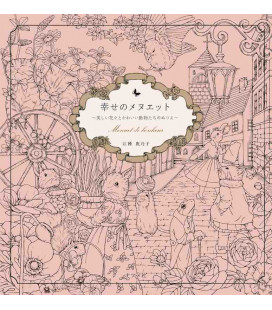 Shiawase no menuetto - Menuet de bonheur - Coloring book