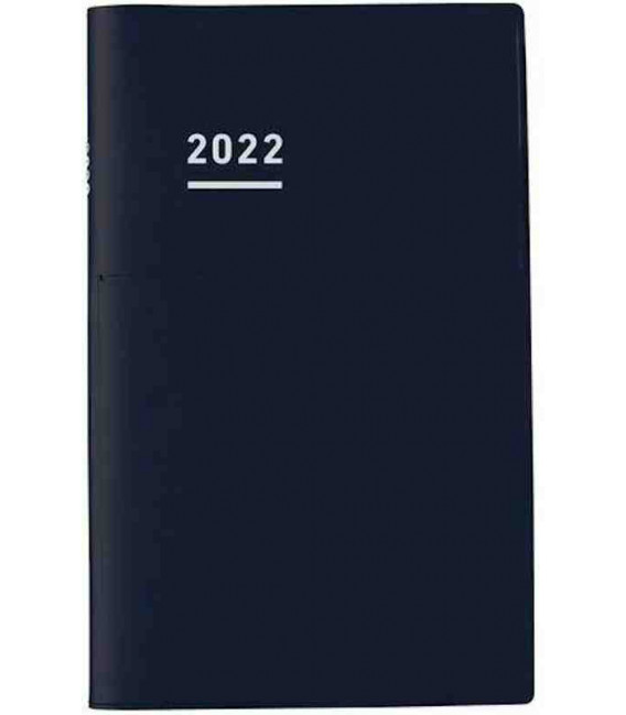 Jibun Techo Kokuyo - Weekly planner 2022 - Biz Diary - A5 Slim - Black colour