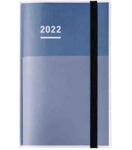 Jibun Techo Kokuyo - Weekly planner 2022 - Diary + Life + Idea set - A5 Slim - Blue Navy