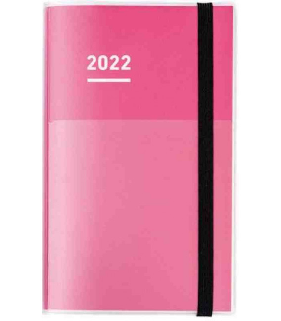 Jibun Techo Kokuyo - Weekly planner 2022 - Diary + Life + Idea set - A5 Slim - Pink colour