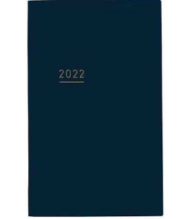 Jibun Techo Kokuyo - Weekly planner 2022 - Lite Mini Diary - B6 Slim - Blue Navy