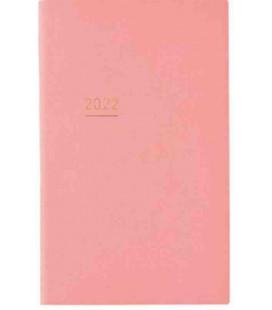 Jibun Techo Kokuyo - Weekly planner 2022 - Lite Mini Diary - B6 Slim - Pink colour