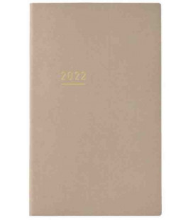 Jibun Techo Kokuyo - Weekly planner 2022 - Lite Mini Diary - B6 Slim - Beige colour