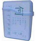 Flashcard Case - translucent plastic (For up to 40 Kanji Flashcards)