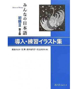 Minna no Nihongo Elementary 2- sentence patterns illustrations cards (Donyu - Shokyu 2) Second edition